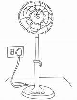 Coloring Fan Electric Printable Pedestal Sketch Azcolorir Template Popular Colorear sketch template