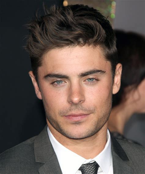 Zac Efron Short Straight Casual Hairstyle