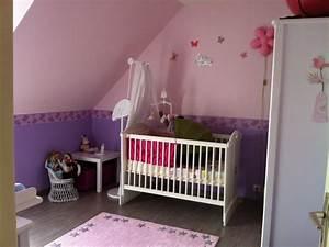 Chambre rose et violette finalisee photo 1 4 lit for Chambre violet et rose