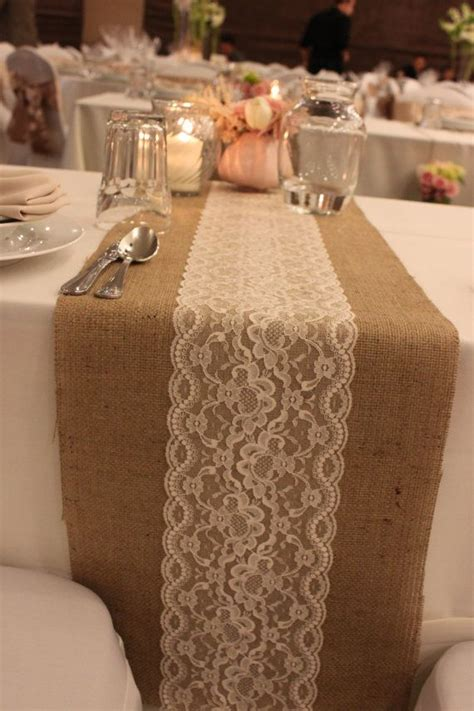 table runner taplak meja blue 55 chic rustic burlap and lace wedding ideas deer pearl
