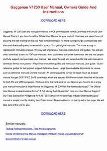 Gaggenau Vf 230 User Manual Owners Guide And By Wadestorey