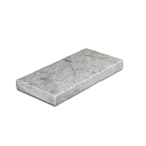 silver tumbled travertine pool coping
