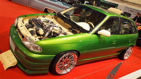 opel astra f cc tuning at essen motorshow exterior walkaround