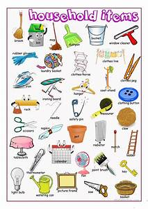 Household Items Picture Dictionary worksheet - Free ESL ...