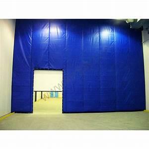 Porte Anti Bruit : rideau cloison amovible maison travaux ~ Premium-room.com Idées de Décoration