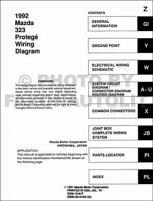 1997 Mazda Protege Wiring Diagram Original 24608 Getacd Es