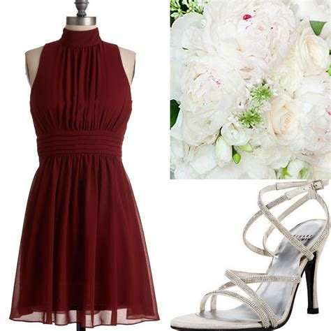 Fall Winter Weddings Cranberry Red Burgundy Bridesmaid