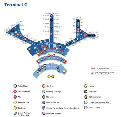 Newark Liberty Airport Map Ewr Printable Terminal Maps