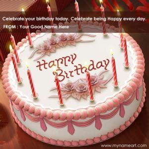 beautiful white birthday cakes  candles