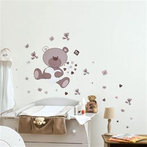 sticker ourson chambre b dessin pour chambre bebe 4 stickers chambre bebe ourson