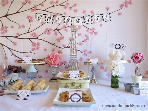 Paris Bridal Shower Ideas  Moms & Munchkins