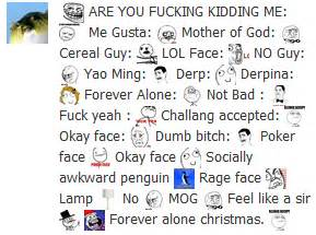 All Meme Faces And Names - facebook gets rage faces