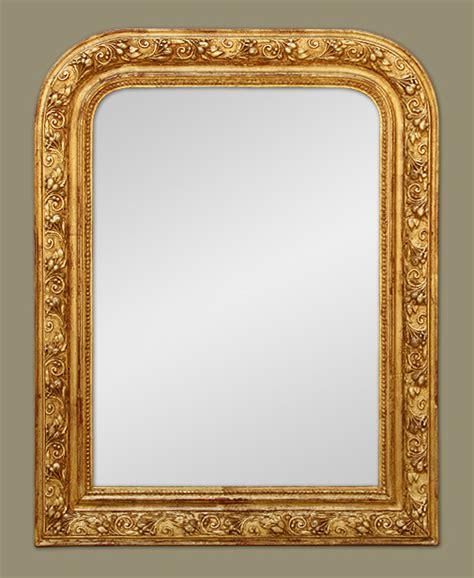 miroir doré ancien petit miroir chemin 233 e louis philippe dor 233 224 la feuille