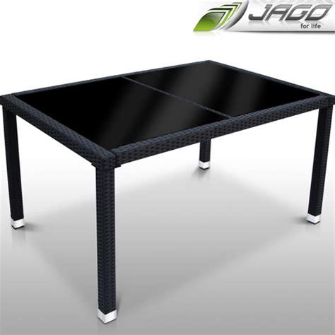 Gartentisch Tisch Bistrotisch Beistelltisch Rattan Optik