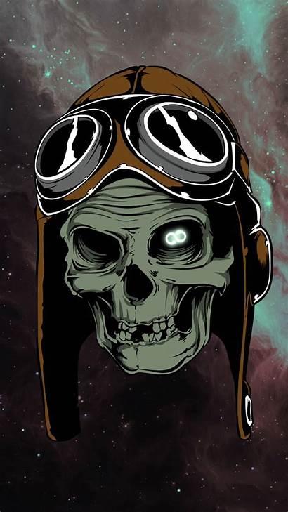 Wallpapers Skull Phone Skulls Iphone Space Wallpapersafari