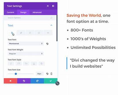 Options Text Font Divi Styles Heading Features