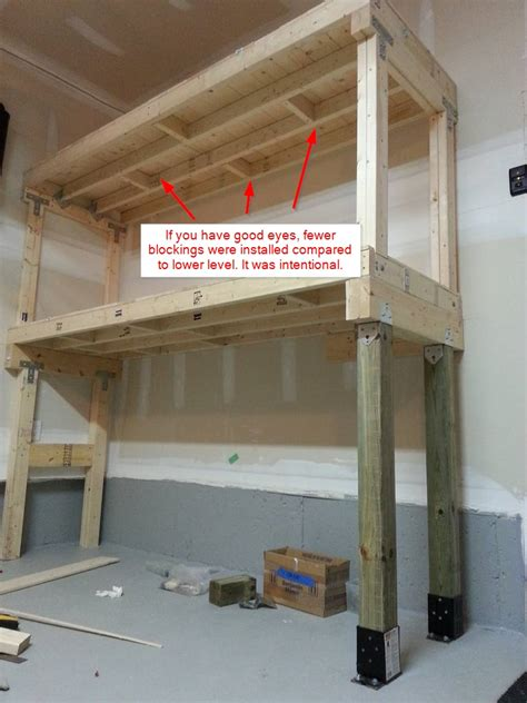 diy heavy duty garage shelves diyablecom