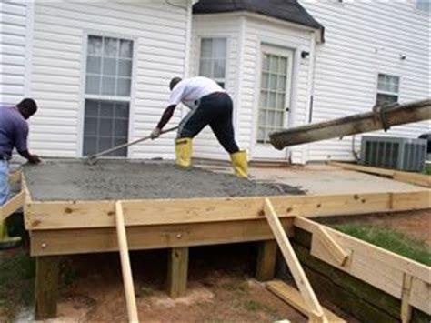 raised concrete decks elevated concrete porch http www