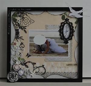 Cadre Photo Mariage : cadre cadeau de mariage scrap a babatte ~ Teatrodelosmanantiales.com Idées de Décoration