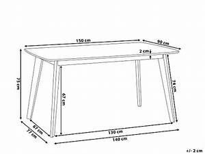 Table 6 Personnes Dimensions : table a manger 1 avec dimensions d une pour 2 4 6 ou de personnes ~ Farleysfitness.com Idées de Décoration