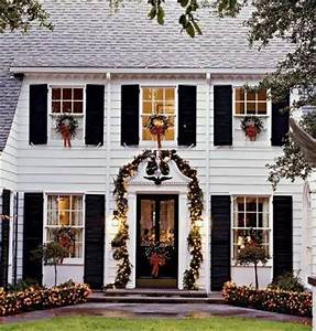 Christmas Wreaths on Windows Outdoors and Indoors