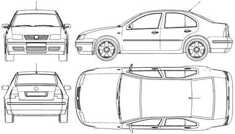 2005 Volkswagen Bora Sedan Blueprints Free