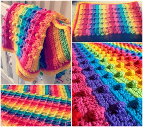 wonderful diy crochet rainbow dash baby blanket
