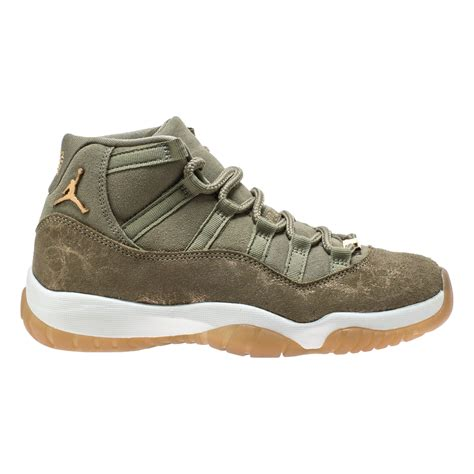 The Womens Exclusive Air Jordan 11 Olive Lux Arrives In