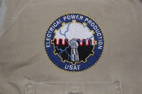 electrical power production usaf embroidery