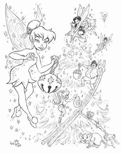 Disney Fairies Deviantart Coloring Tinkerbell Fairy Mandala