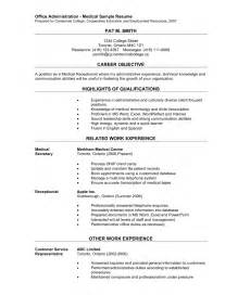 Objective In Resume For Receptionist by Receptionist Resume Objective Berathen