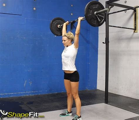 crossfit press shoulder exercise barbell muscles box exercises front muscle squat bar guide