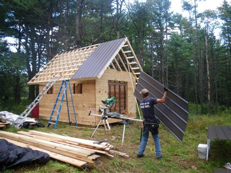 install metal roof on shed zero grazing shed