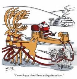 Funny Santa Cartoon Reindeer