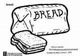 Bread Coloring Pages Kleurplaat Morty Rick Printable Edupics Broed Drawings Bild Br sketch template