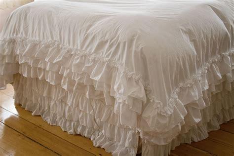 shabby chic white ruffle bedding shabby chic style bedding white ruffle duvet