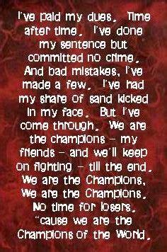 queen    champions queen lyrics great song