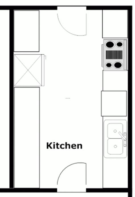 Narrow Galley Kitchen Floor Plans by Image Detail For Small Galley Kitchen Designs Small