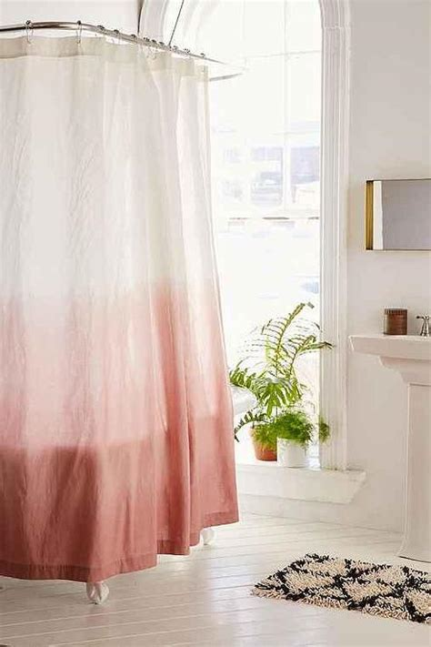 pink shower curtains pink ombre dipped shower curtain nine space dip dye