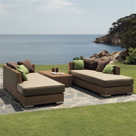 chaise ingolf point golf outdoor chaise modern wicker