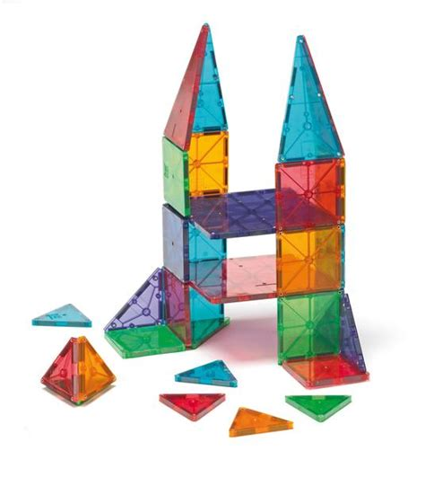 Magna Tiles 32 by Magna Tiles 48 Clear Colours Set Kidzinc Australia