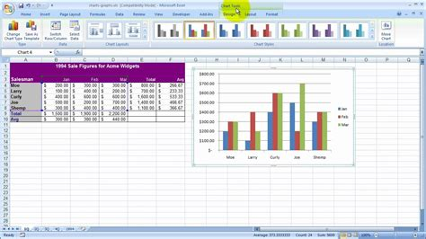 create  column chart  excel youtube