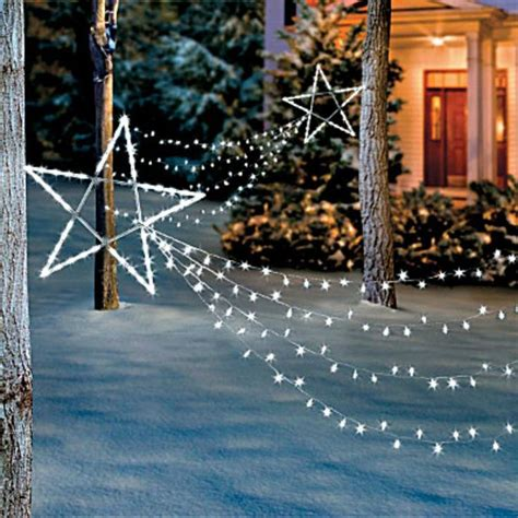 lighted outdoor christmas decorations  yard garden