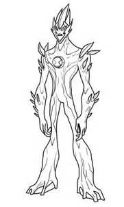 ben  alien force swampfire coloring page supercoloringcom