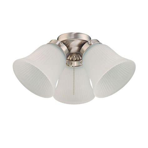 westinghouse ceiling fan light kit 77833 westinghouse 3 light brushed nickel ceiling fan light kit