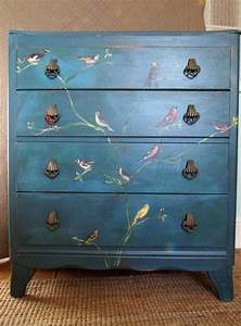 Vintage, Furniture, Painted, Teal, Blue, And, Distressed, In, The, Shabby, Chic, Fashion, Before, Being