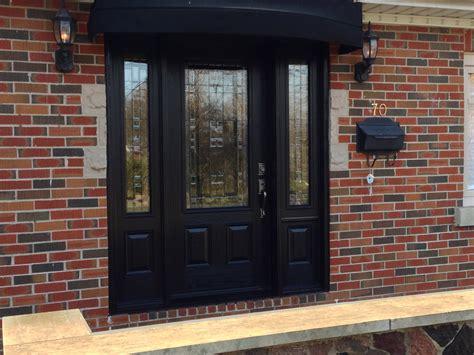 Doors: astounding black front door with sidelights Black