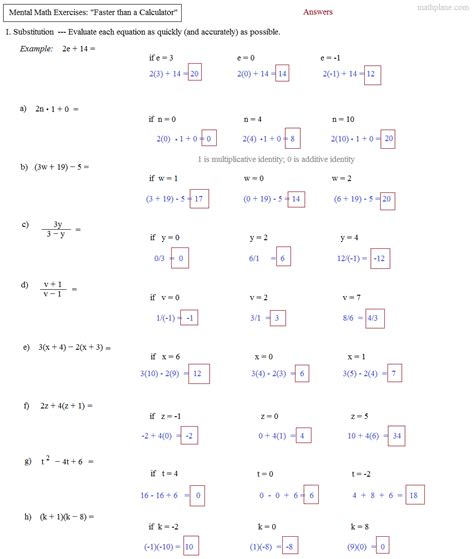 math speed drills worksheets for all and