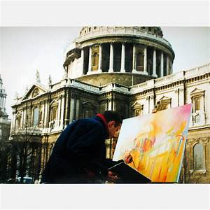 Stephen B. Whatley on location in London painting St Pauls ...