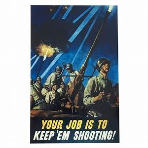 Framed Wwii War Poster Reprint